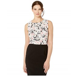Tommy Hilfiger, Floral Print Bead Neck Knit Top