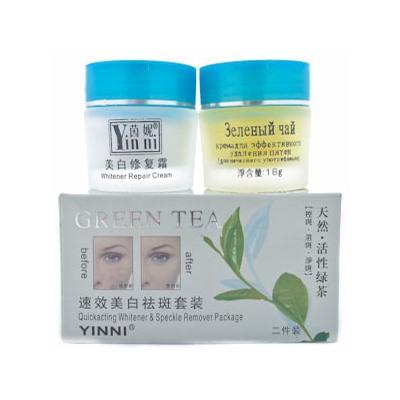 Китайский крем зеленый чай от пигментных пятен
