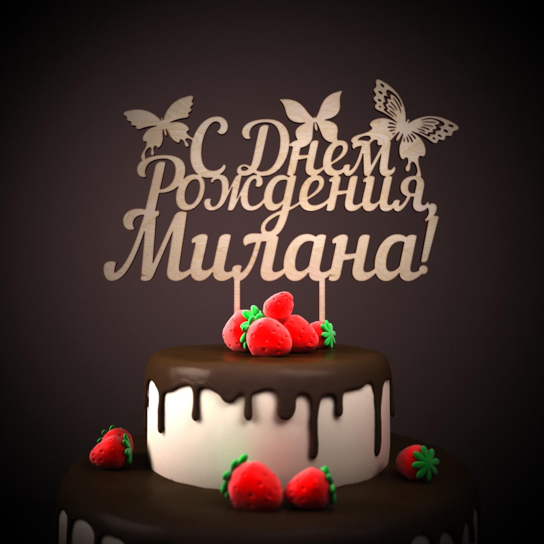 Поздравления с днём рожденья милане