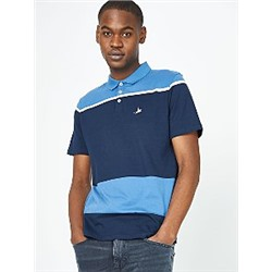 Blue Striped Polo Top