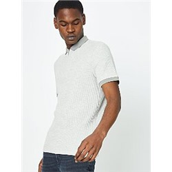 Waffle Texture Polo Top