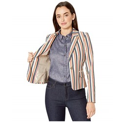 Tommy Hilfiger, Multi Stripe One-Button Jacket