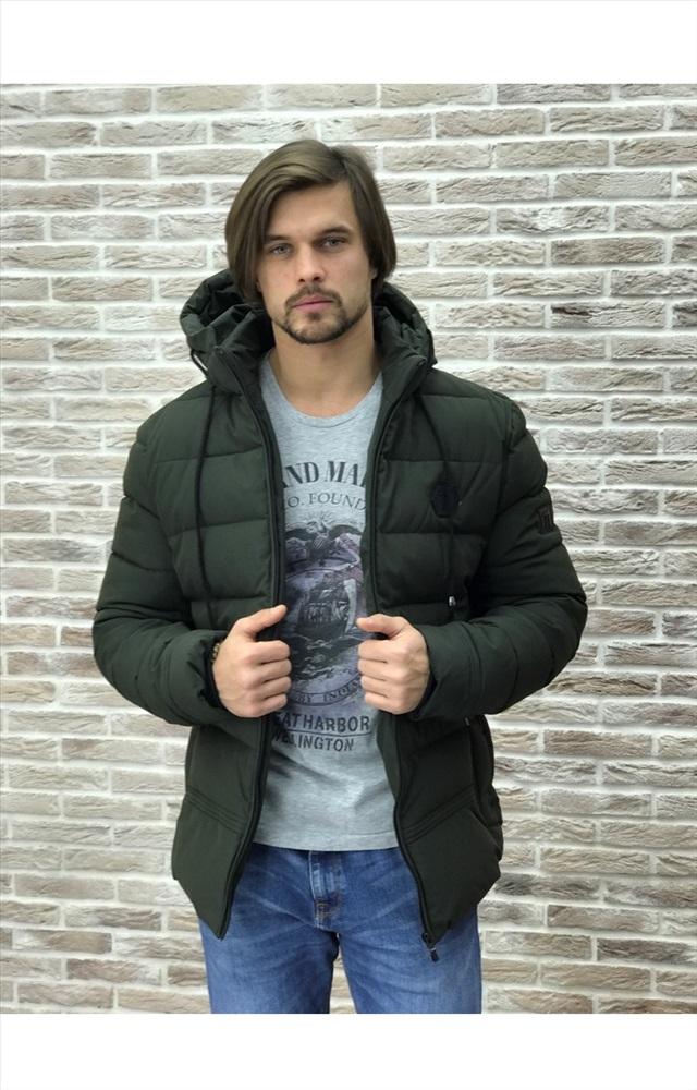 2808ba6b2e2 Мужская куртка арт.7-4 темно-зеленая купить