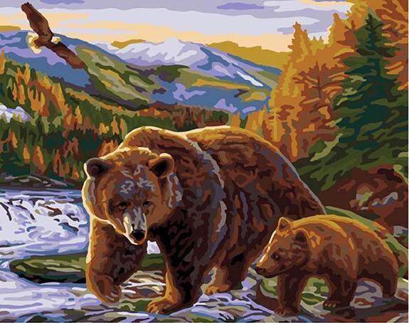 как нарисовать картину медведя показать фото худых руках это