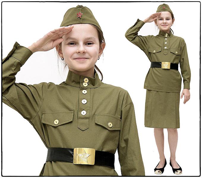Юбки военные для девочек