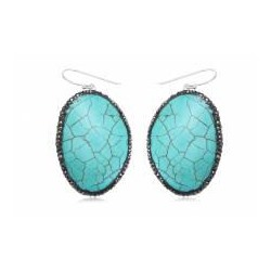 Silver Turquoise - Earrings