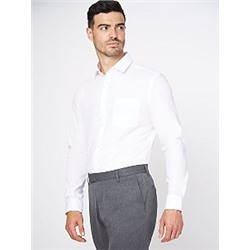White Slim Fit Long Sleeve Shirts 2 Pack