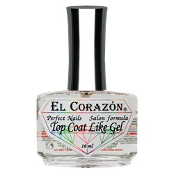 "El Corazon Perfect Nails №434  Верхнее покрытие ""Top Coat Like Gel"" 16 мл"
