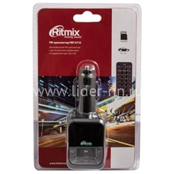 MP3 FM Modulator RITMIX FMT-A710 (USB/Micro SD/дисплей/пульт)
