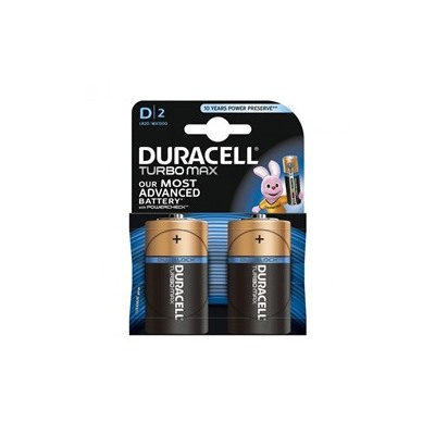2 Батарейки DURACELL TURBO  LR14 PLUS (2 шт./блист.) сред.бочка C  (10 блист./кор)