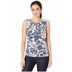 Tommy Hilfiger, Floral Bead Neck Sleeveless Knit Top