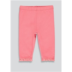 Girls Lace Trim Leggings (Tiny Baby-23mths)