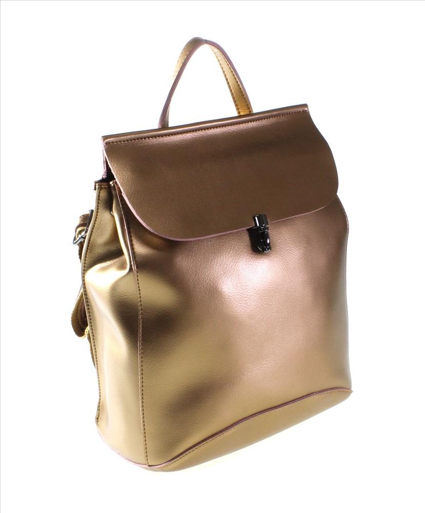 a464e47ae1f1 Роскошная сумочка-рюкзак Parthenia_Nouri из натуральной кожи золотистого  цвета.
